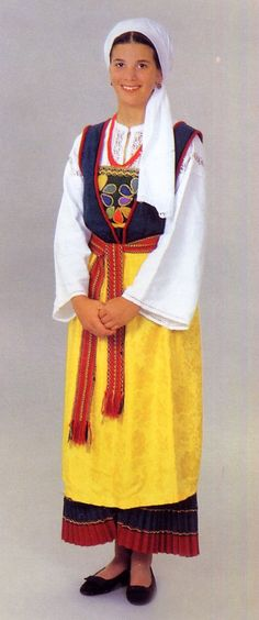 Woman's costume of the central Dalmatian coast, Croatia