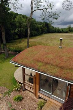 Red roofing, living roofs, vegetated roofer, ecoroofs — whatever you desire to ring them. Sedum Roof, Green Facade, Green Roofs, Roofing Options, Roofing Materials, Eco Buildings, Timber Roof, Steel Roofing, Tin Roofing
