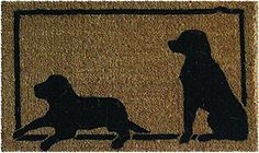 Entryways Dog Hand Woven Coir Animal Silhouette Doormat * See this great product.
