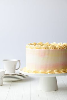 Lemon layer cake with apricot honey - Style Sweet CA