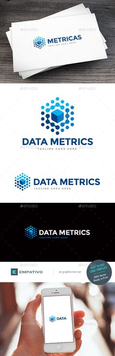 Data Metrics Logo Design Template Vector #logotype Download it here: http://graphicriver.net/item/data-metrics-logo-template/11580000?s_rank=773?ref=nexion
