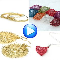 4 Wire crochet patterns combo jewelry instructions jewellery tutorial online step by step video tutorials wire crochet jewelry