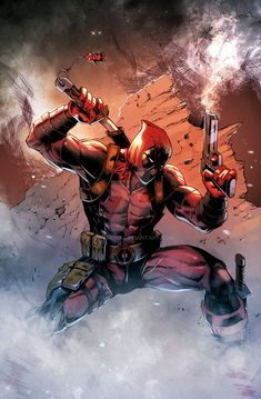 Lines By Don Mark Noceda Colors by me Deadpool Marvel Comic Character, Comic Book Characters, Marvel Characters, Marvel Dc Comics, Marvel Heroes, Marvel Avengers, Deadpool Pictures, Deadpool Art, Deadpool Wallpaper