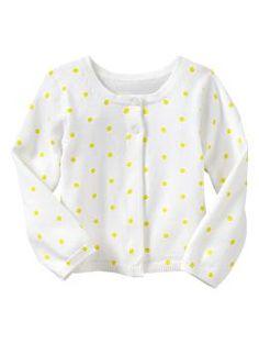 Neon dot cardigan | Baby Gap #babyfashion