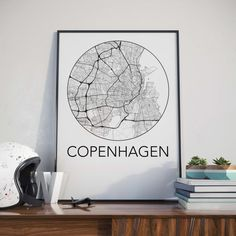 Copenhagen, Denmark Minimalist City Map Black and White Print. Did you know that streets represent the largest amount of public space in a