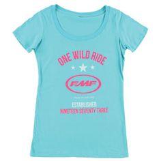 FMF Women's Collegiate T-Shirt #Cutest #moto #tee #tshirt #clothes #fashion #tank #tanktop #shirt  #black #pink #white #teal #grey #gray #blue #fall #winter #summer #spring #floral