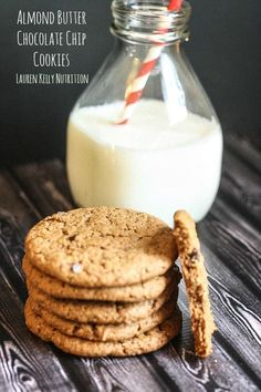 Almond Butter Chocolate Chip Cookies, Dairy Free, Gluten Free - Lauren Kelly Nutrition