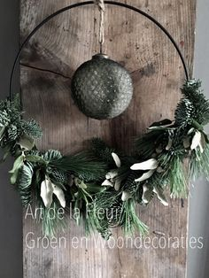 Christmas wreath with black metal ring and Christmas bauble 35 cm Christmas .- Christmas wreath with black metal ring and Christmas bauble 35 cm Christmas green decorations Art de la Fleur Green & Home Decor - Bauble Wreath, Christmas Ornament Wreath, Advent Wreath, Christmas Baubles, Diy Wreath, Black Christmas, Christmas Diy, Black Metal Rings, Holiday Wreaths