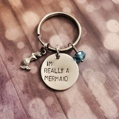 I'm Really A Mermaid  Keychain Necklace Charm by dalilicequeen