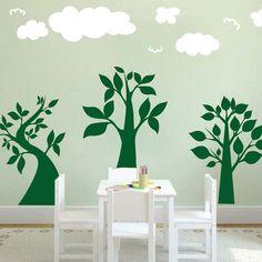 three lil trees wall art design trendy wall designs