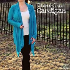 Learn how to make your own Draped-Shawl Cardigan with this tutorial.