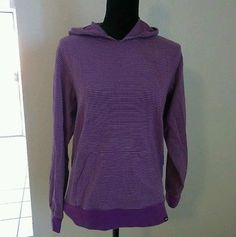 For SALE on eBay VANS PURPLE STRIPED WOMEN'S HOODIE SIZE MEDIUM M OFF THE WALL TEENS @thriftedepitome