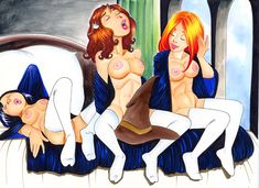 "Cho Chang, Ginny Weasley and Hermione - Art by Barry Blair - Board ""Art - Barry Blair "" -"