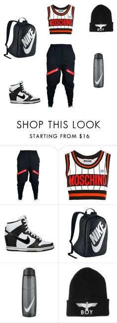 """""""Hip hop style"""" by hiphophunny ❤ liked on Polyvore featuring Moschino, NIKE and BOY London"""