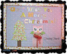 Owl Themed Christmas Bulletin Board