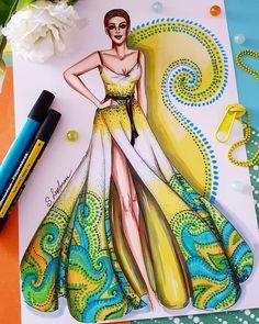 Este posibil ca imaginea să conţină: 2 persoane Dress Design Sketches, Fashion Design Sketchbook, Fashion Design Drawings, Fashion Sketches, Fashion Drawing Dresses, Fashion Illustration Dresses, Dress Illustration, Fashion Figure Drawing, Top Model Fashion