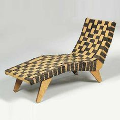 Jens Risom; Beech 'Vostra' Chaise Longue for Walter Knoll, c1941.
