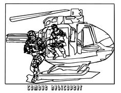 Combat Helicopters Coloring Pages For Kids Printable