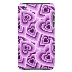 Unique, trendy and pretty iPod Touch 4G case. Beautiful pink, violet and purple hearts pattern. Romantic and whimsical design for the fashionista or fashion diva, the hip trend setter, nouveau vintage retro, modern deco or abstract graphic motif lover. Cute and fun birthday, Valentine's day present or Christmas gift. Elegant, classy, chic, original and cool cover for the girly girl or sophisticated woman. Also available for 5G, Samsung Galaxy S2 S3 S4, Droid Razr, iPhone 3/4/5, iPad and…