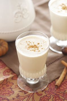 "One pinner says ""This is the best egg nog i have ever had!!! I hate store bought, and I have used another recipe, but after trying this recipe there is no turning back!"""