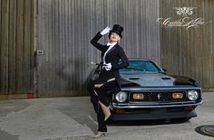 """From our shooting with burlesque-performer Rita Lynch for the """"Girls & legendary US-Cars"""" 2016 calendar by SWAY Books. / Photo: www.carloskella.de / Publishing house: SWAY Books / Car: Ford Mustang Fastback, 1971 /  ==> Order your limited calendar here: www.sway-books.de (Germany) / www.ars-vivendi.de (other Countries)"""