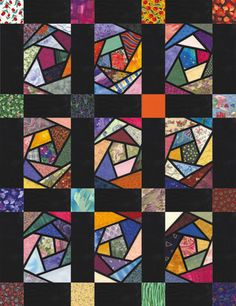 Crazy Stained Glass Quilt uploaded by pinner