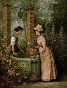 In the Rose Garden by Th. Rennert