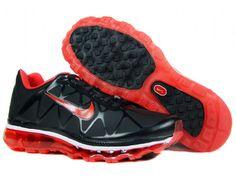 reputable site 797ac 667f2 Danmark Billige Nike Air Max 2011 Trainers Kids - Black Red Leather