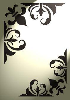 MYLAR STENCIL Shabby Chic FRENCH VINTAGE Craft Art 125//190 micron A3//A4//A5 66