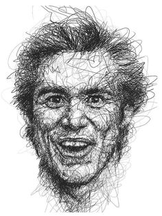 Jim Carrey and His Microexpressions Artist Vince Low paints scribble-style portraits of Jim Carrey to capture his funny faces.[[MORE]] Low's builds three dimensional effect through repeated marks, making an effort to pay tribute to this legendary. Pencil Portrait, Portrait Art, Portraits, Funny Face Drawings, Funny Faces, Jim Carrey, Contour Drawing, Line Drawing, Vince Low