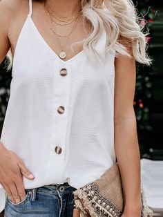 best of simple and comfy casual summer outfits 28 Casual Summer Outfits, Short Outfits, Moda Preppy, Tank Top Outfits, Comfy Casual, Weekend Wear, Mi Long, Preppy Style, Tank Tops