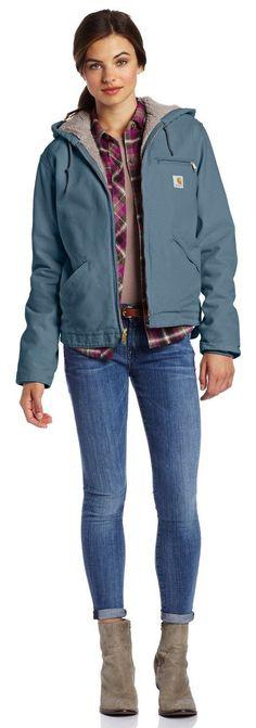 Carhartt Women's Sandstone Duck Sierra Jacket/Sherpa-Lined... | Street Fashion
