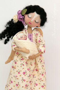 nose Fabric Dolls, Paper Dolls, Art Dolls, Clothespin Dolls, Love Craft, Doll Hair, Doll Patterns, Beautiful Dolls, Wall Photos