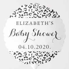 Shop Baby Shower - Animal Print, Leopard Spots - Black Balloon created by partyprogram. Photo Balloons, Black Balloons, Leopard Spots, Leopard Animal, Shower Party, Baby Shower Parties, Baby Shower Ballons, Baby Shower Table Decorations, Balloon Shapes