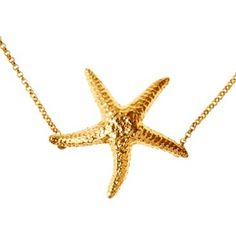Check out this item at One Kings Lane! Gold Plated Starfish Necklace