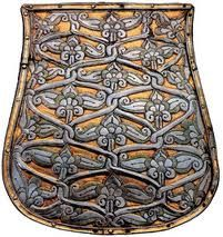 Sabretache - this example a Magyar tarsoly of the century. Sabretaches/tarsolys were suspended from the belt by the sabre and served as a man-purse, for the lack of pockets in military uniform. Viking Symbols, Ancient Symbols, Leather Working, Metal Working, Steampunk, Hungarian Embroidery, Man Purse, Strange History, Belt Pouch
