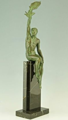 Victory, Art Deco Sculpture of an Athlete by Pierre Le Faguays, 1935 | From a unique collection of antique and modern sculptures at http://www.1stdibs.com/furniture/more-furniture-collectibles/sculptures/