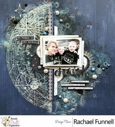 A window to my scrapping world: Anna's Craft Cupboard - June 2018 Sketch Challenge Scrapbook Expo, Scrapbook Sketches, Baby Scrapbook, Scrapbook Paper, Scrapbook Frames, Scrapbook Templates, Mixed Media Scrapbooking, Scrapbooking Layouts, Mix Media