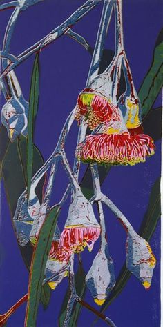 Helen Clarke Relief Prints, Floral Art