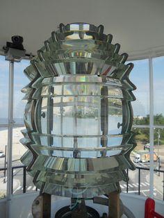 Biloxi Lighthouse lens - August 2011 - love the shape of the lens!
