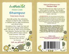 Natural Thicker Hair Shampooo To Grow Thicker Fuller Hair