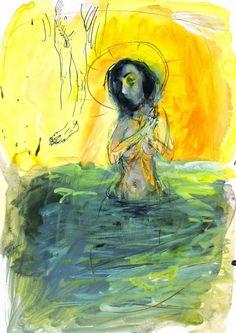 Marek Ormandik - Under My Spell V (2009). 30x42 Painting, Art, Art Background, Painting Art, Kunst, Paintings, Performing Arts, Painted Canvas, Drawings
