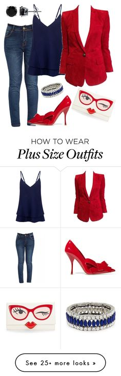 """""""Red Is Red And Hot"""" by sweetyincago on Polyvore featuring C/MEO COLLECTIVE, Balmain, Miu Miu, BERRICLE, Kenneth Jay Lane, Kate Spade, women's clothing, women, female and woman"""