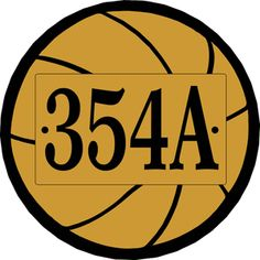Basketball Shape Address Sign - personalized with your house number - Comfort House # P2786