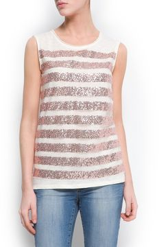 http://www.shopstyle.com: Sequined striped t-shirt