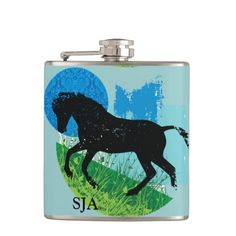 Frolicking Horse Design Flask