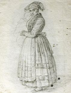 Rosario Weiss. La Pasiega. Madrid, 1838. Lápiz negro sobre papel verjurado. Inv…