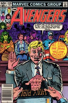 Law and order, comic book unit: Henry Pym is tried for crimes against his wife and the Avengers.