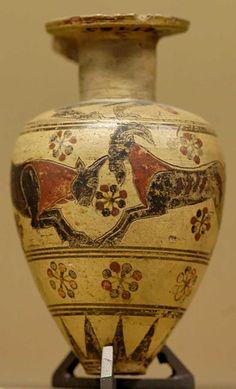 Protocorinthian Aryballos, ca 640/620 BC, from Corinth. Louvre E383