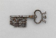 Crown key; château d'Ecouen, France.